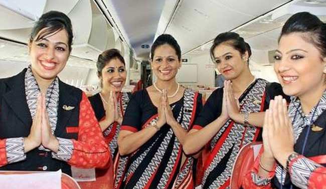 مضيفات في الخطوط الجوية الهندية  (أرشيفية)