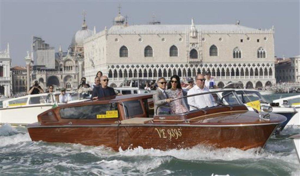 جورج كلوني وزوجته امل اقاما حفل زواجهما في إيطاليا