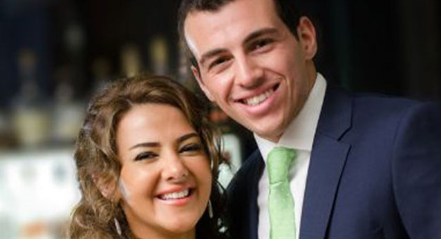 دنيا سمير غانم مع زوجها