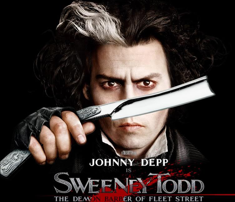 الممثل الاميركي جوني ديب في فيلم يروي قصة الحلاق سويني  (أرشيفية)