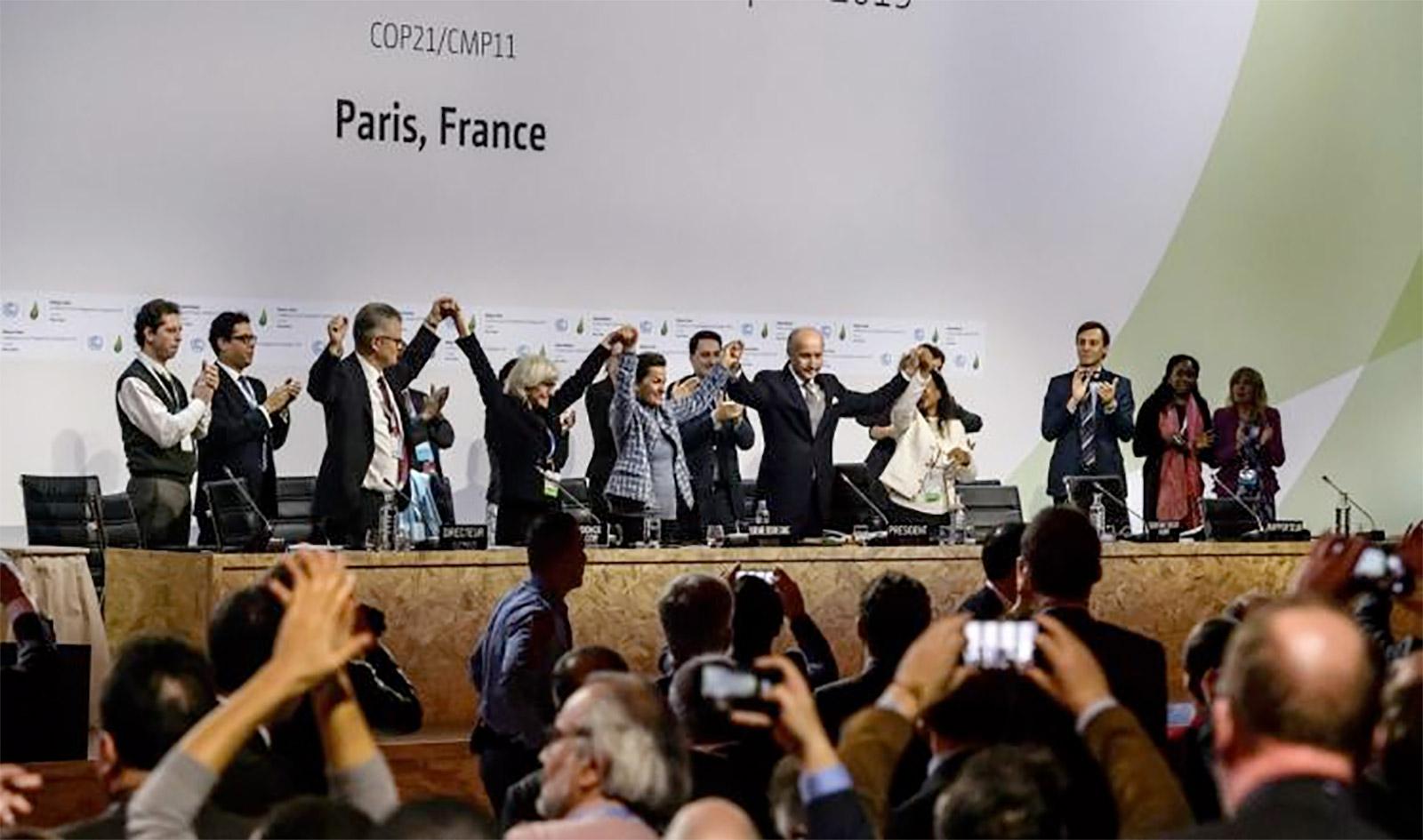 صورة ارشيفية لقمة باريس للتغيرالمناخي