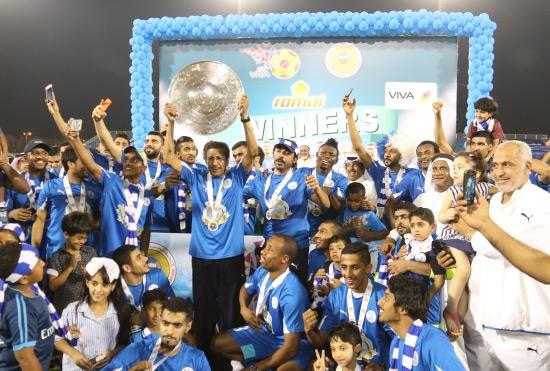 تتويج الحد التاريخي بلقب دوري القدم - تصوير محمد المخرق