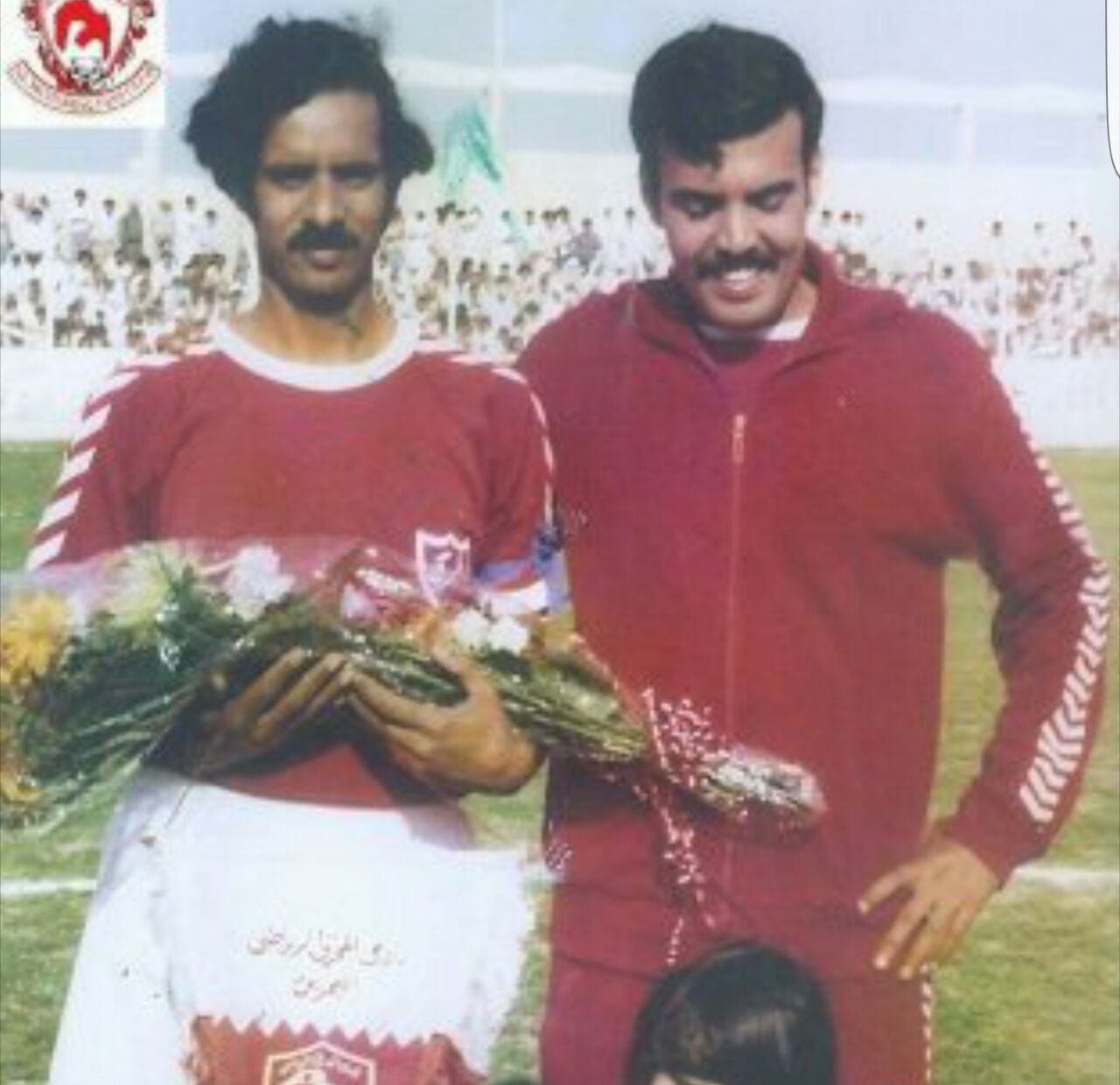 المرحوم خليفة بن سلمان في اعتزال النجم أحمد سالمين سنة 77