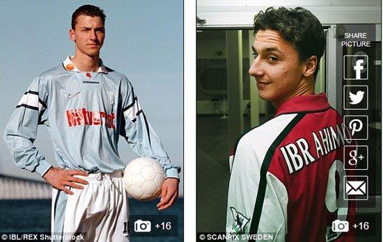 إبراهيموفيتش مع فريق مالمو السويدى 1999 قبل الإنتقال لأياكس عام 2000