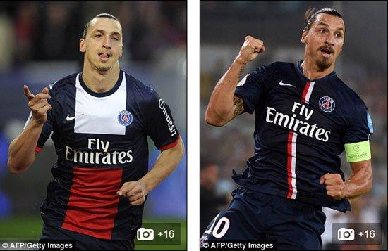 إبراهيموفيتش قضى أفضل مواسمه رفقة باريس سان جيرمان لمدة 4 سنوات، ويعود تاريخ هذه الصورة لـ2013