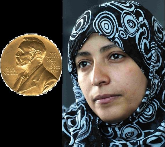 توكل كرمان (اليمن) نوبل للسلام عام 2011
