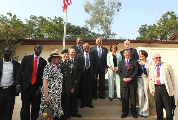صورة أرشيفية لافتتاح السفارة الأميركية في جوبا في 9 يوليو/ تموز 2011