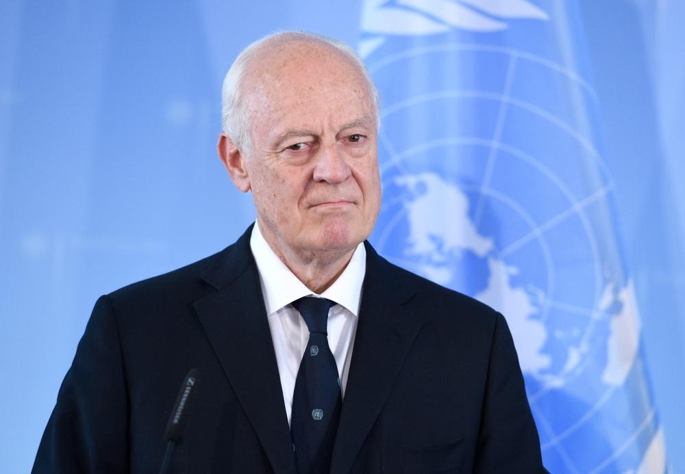 المبعوث الأممي الخاص لسورية ستافان دي ميستورا