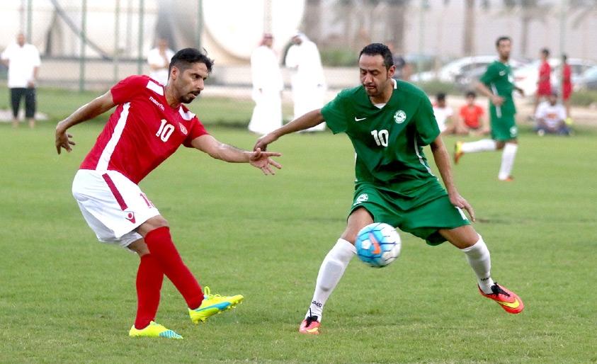 من مباراة المحرق الودية أمس أمام البحرين-تصوير عقيل الفردان