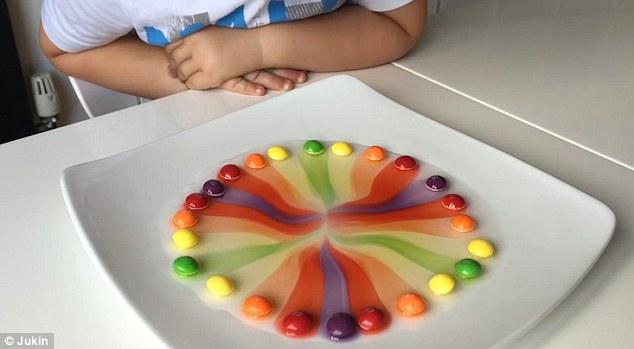 بالفيديو كيف تذوب Quot الحلوى الملونة Quot لتذوق قوس قزح