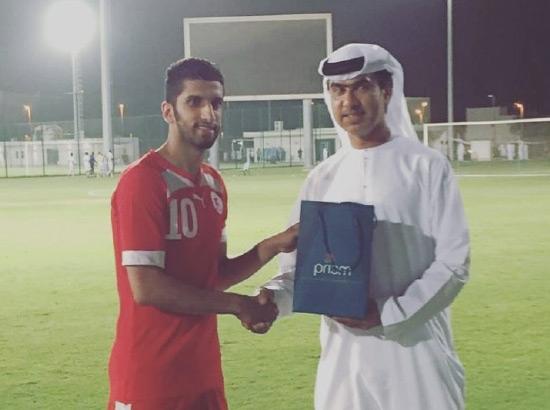 تتويج الحسيني بجائزة أفضل لاعب (نقلاً عن إعلام الشرقي)