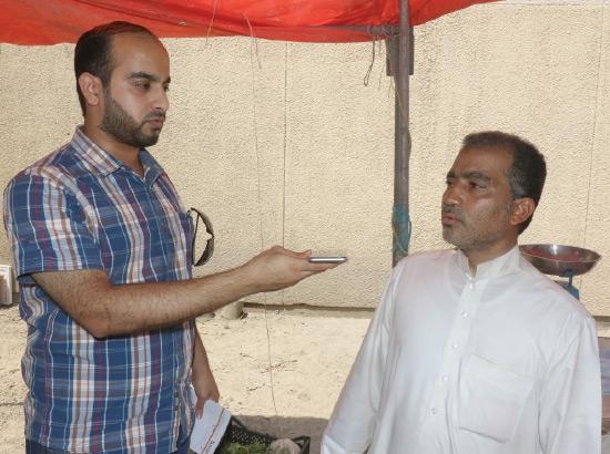 البائع إبراهيم محمد متحدثاً إلى «لوسط»