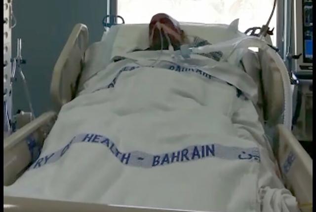 الشاب جواد سوار أثناء تلقيه العلاج
