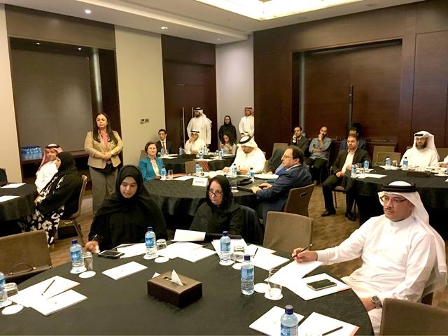 الحضور من مختلف الجهات الرسمية في ورشة تقييم الأثر الاقتصادي للتدهور البيئي أمس