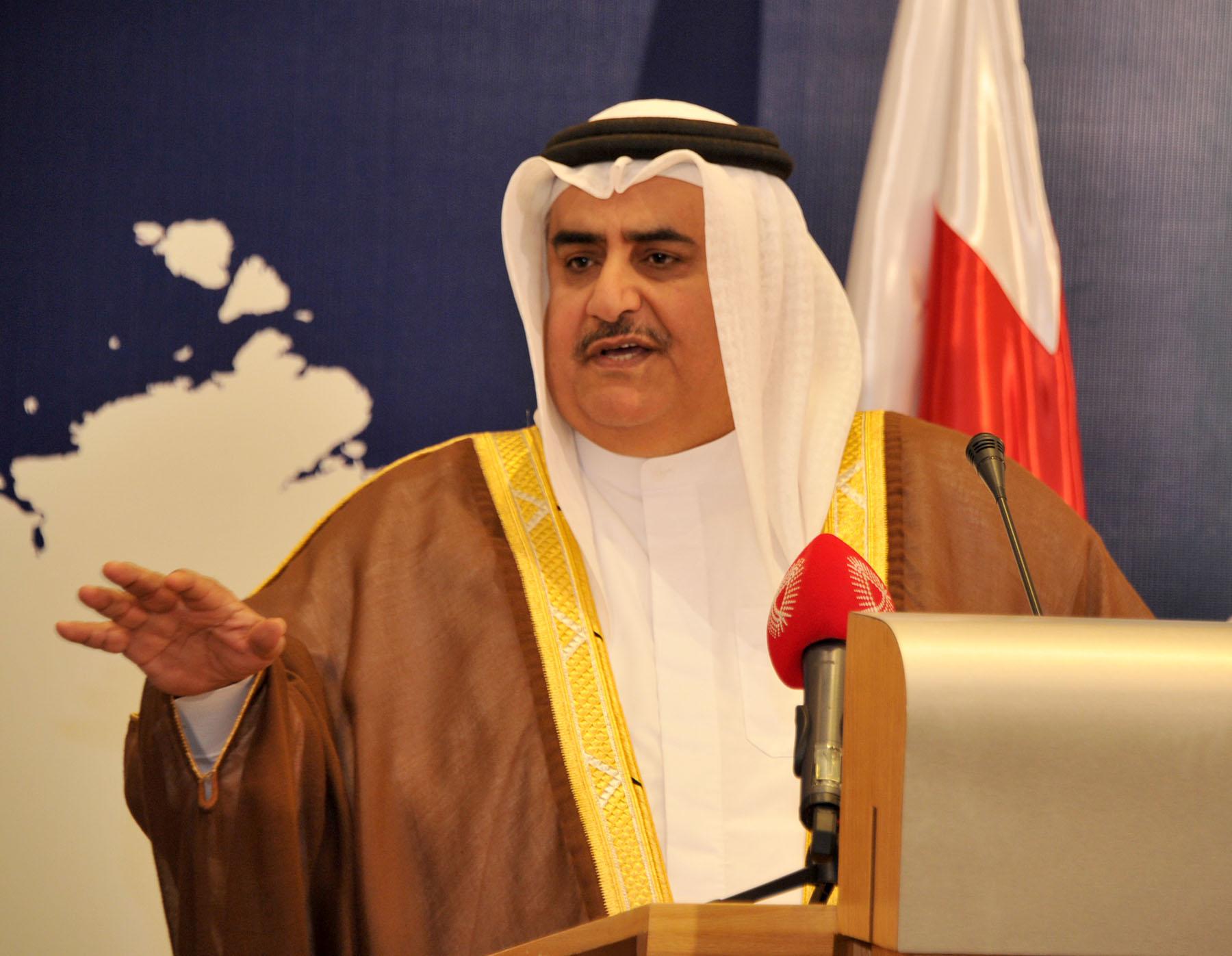 وزير الخارجية الشيخ خالد بن أحمد آل خليفة