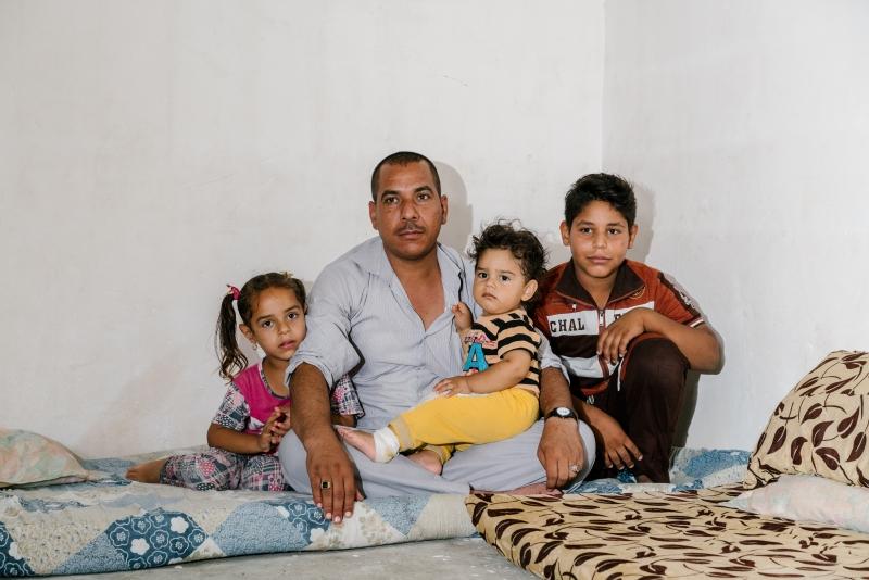 ولد الابن الأصغر لأحمد قصي داخل المخيم