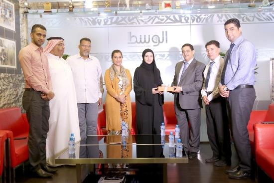 أسرة صحيفة «الوسط» تُكرم البحرينية ولاء البقالي