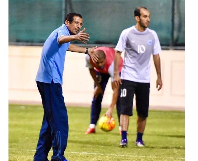 حسين سلمان برفقة شريدة في التدريبات