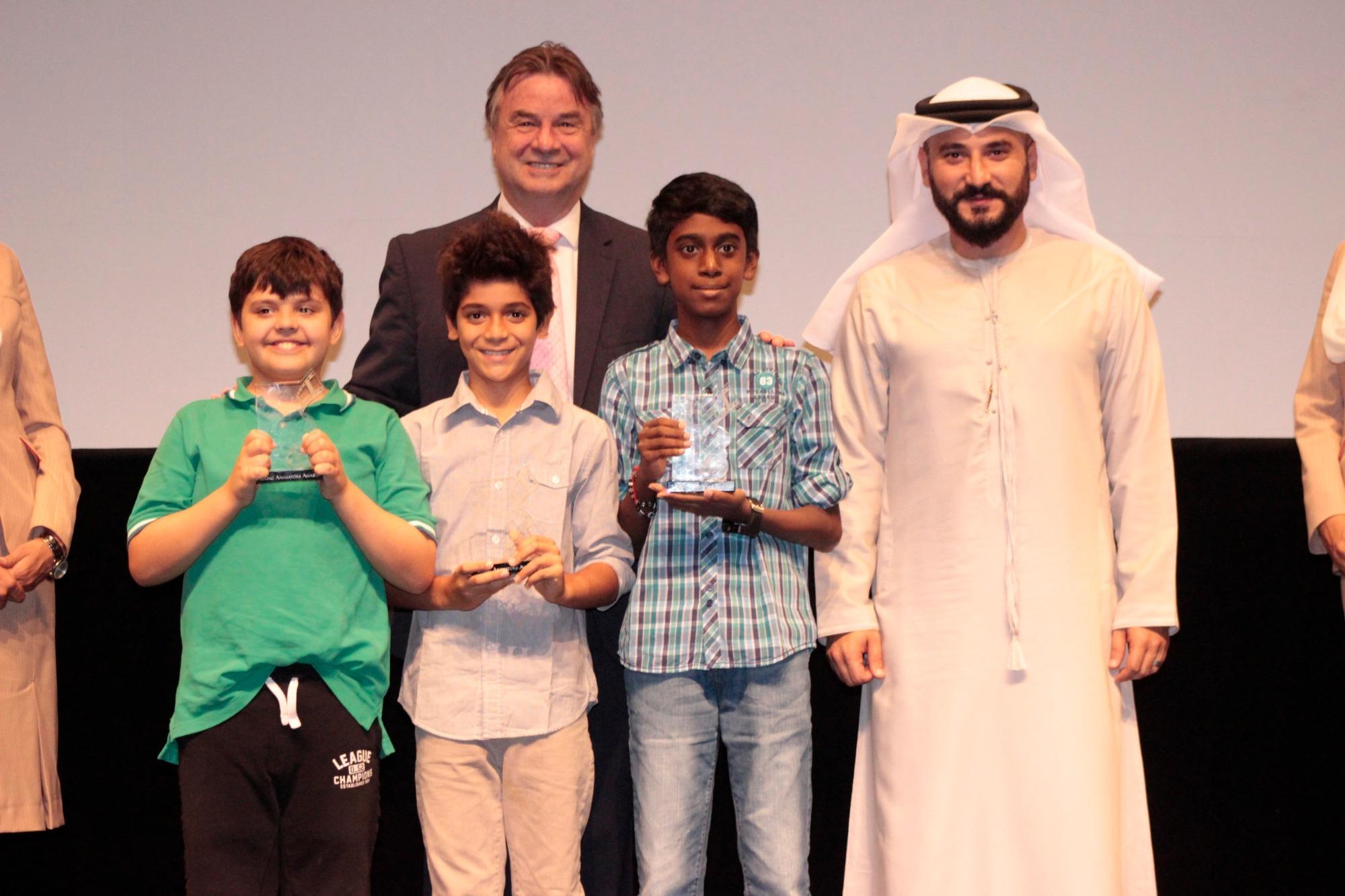الفائزون بجائزة التحريك في الدورة 12 من مهرجان دبي السينمائي الدولي