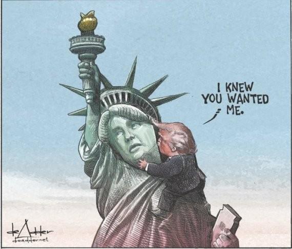 أمريكا تشيح بوجهها عن ترامب إلا أنه يقول