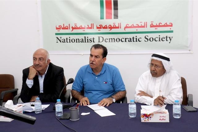ندوة «الأزمة الراهنة وغياب الحلول السياسية» في «التجمع القومي»  - تصوير : عقيل الفردان
