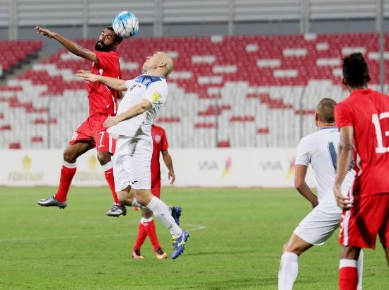 التعادل يخيم على مباراة منتخبنا مع قرغيزستان - تصوير محمد المخرق