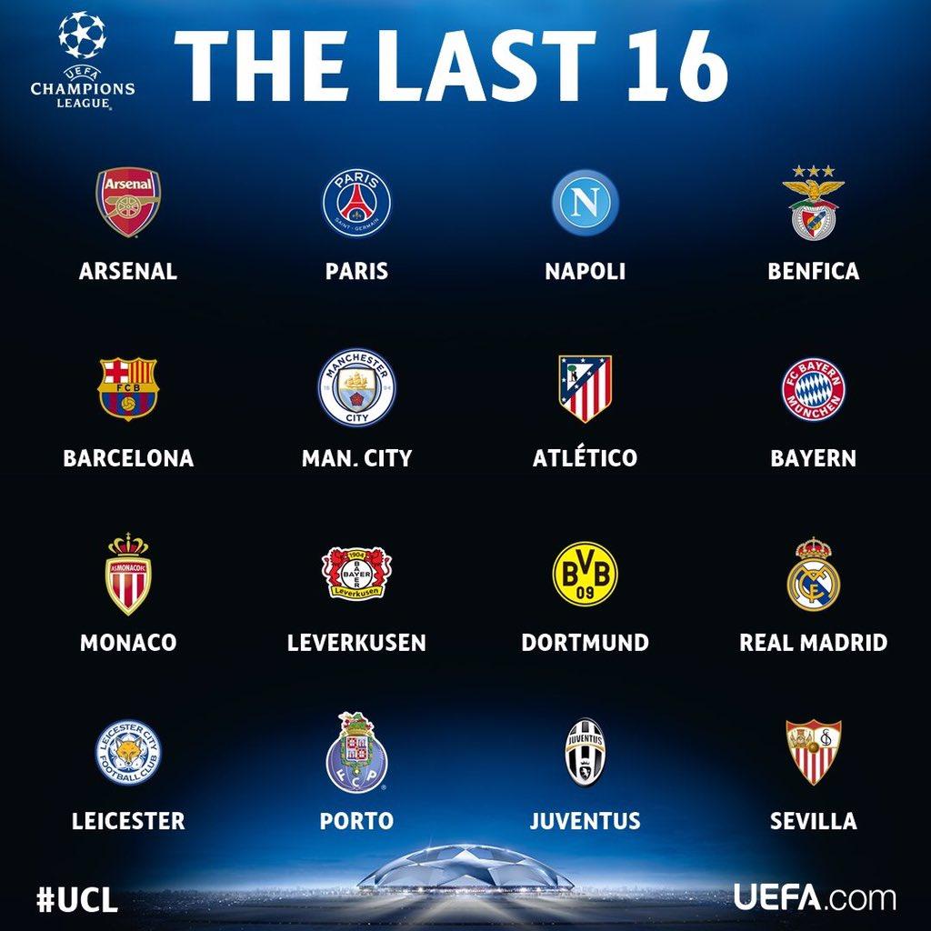 الفرق المتأهلة لدور 16 في دوري أبطال أوروبا 2020