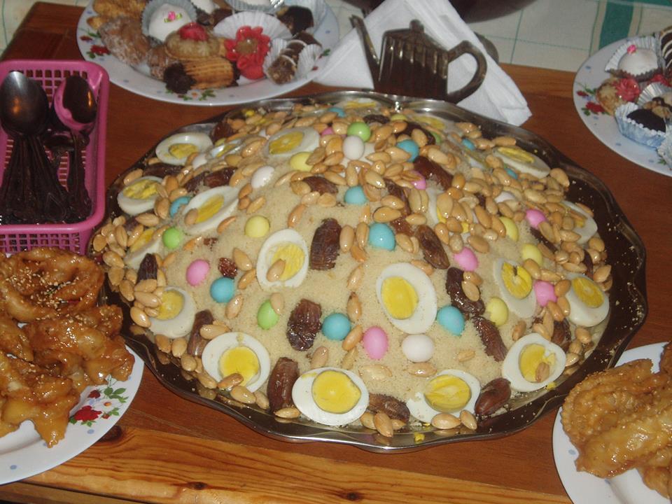 حلوى جزائرية  تعد بمناسبة المولد النبوي الشريف
