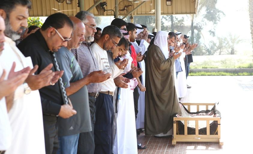 الصلاة على جثمان القتيلة