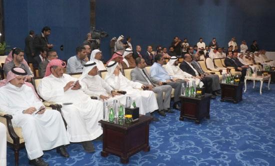 مسئولو الأندية والحضور خلال المؤتمر الصحافي - تصوير عقيل الفردان