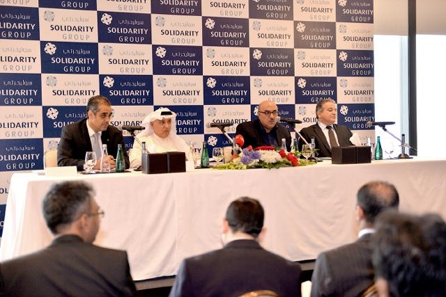 المؤتمر الصحافي لمسئولي شركة التأمين الأهلية وشركة سوليدرتي للتأمين التكافلي