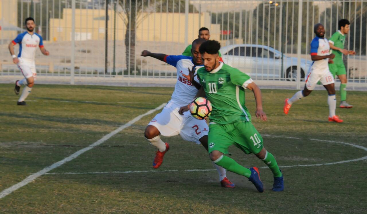 جانب من منافسات كأس الاتحاد البحريني لكرة القدم