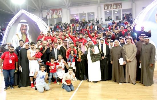 فريق المحرق بطل كأس خليفة بن سلمان للعام 2017 - تصوير عقيل الفردان