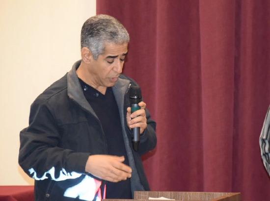 عبدالنبي سلمان أثناء مداخلته