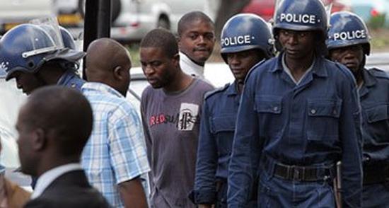 عناصر من الشرطة فى زيمبابوى