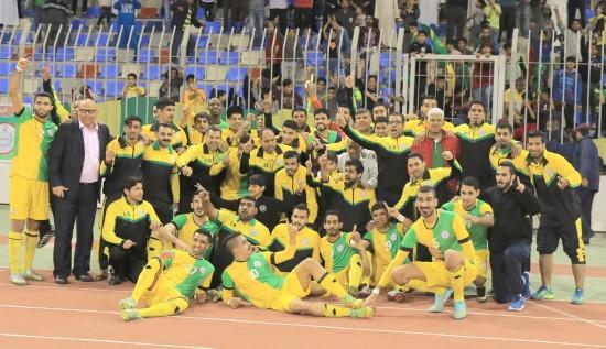 فرحة لاعبي المالكية - تصوير أحمد آل حيدر