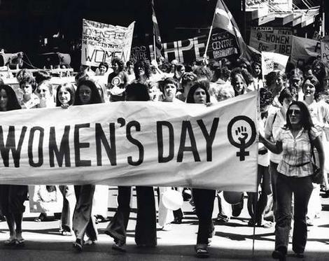 صورة ارشيفية لمظاهرات يوم المراة العالمي
