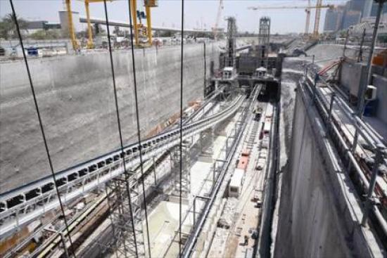 العمل في مشروع «مترو الدوحة»