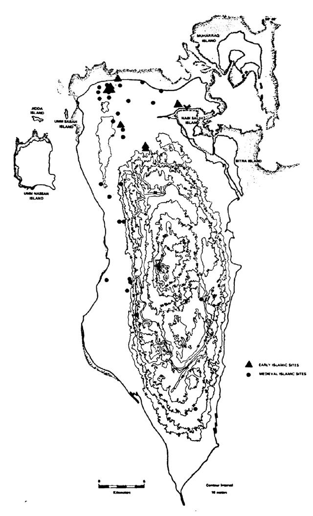 المواقع الإسلامية المبكِّرة والمتوسطة (Larsen 1983)