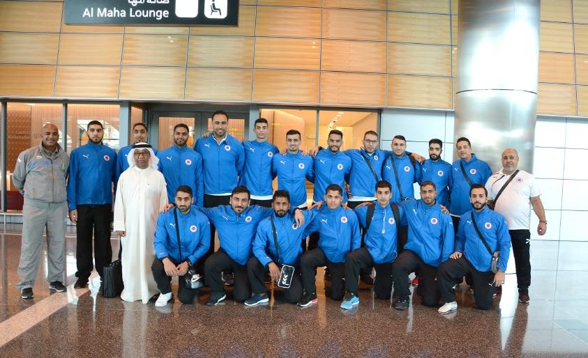 بعثة باربار لدى وصولها إلى مطار الدوحة