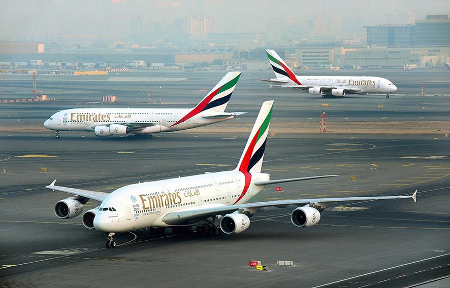 طيران الإمارات بدأت تشغيل الإيرباص A380 لأول مرة إلى أميركا الجنوبية وشمال أفريقيا، وأعادت الطائرة العملاقة إلى مطار ناريتا في طوكيو