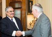 معالي وزير الخارجية يجتمع مع وزير خارجية الولايات المتحدة الأمريكية الصديقة