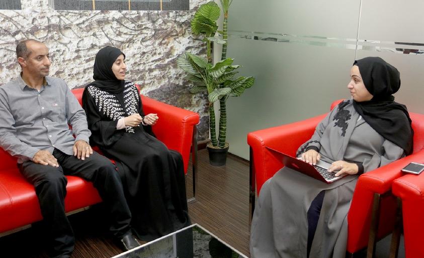 الطالبة سارة إبراهيم مرهون تتحدث إلى «الوسط»-تصوير عقيل الفردان