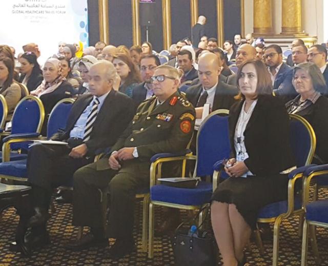 د. الجلاهمة أثناء مشاركتها في المنتدى
