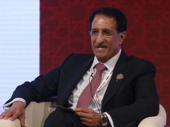 الرئيس التنفيذي لجهاز قطر للاستثمار الشيخ عبد الله بن محمد بن سعود آل ثاني خلال منتدى في لندن يوم الاثنين