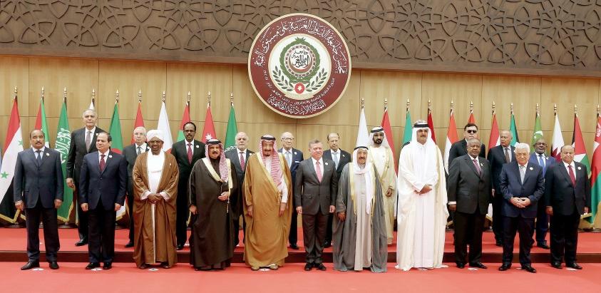 صورة جماعية للقادة العرب ورؤساء الوفود قبل افتتاح القمة العربية 28 في الأردن - EPA