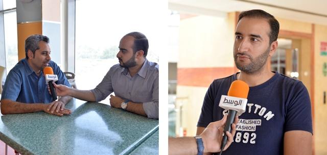 عباس الصيبعي  -  جلال الحمد متحدثاً إلى «الوسط»  -تصوير : أحمد آل حيدر