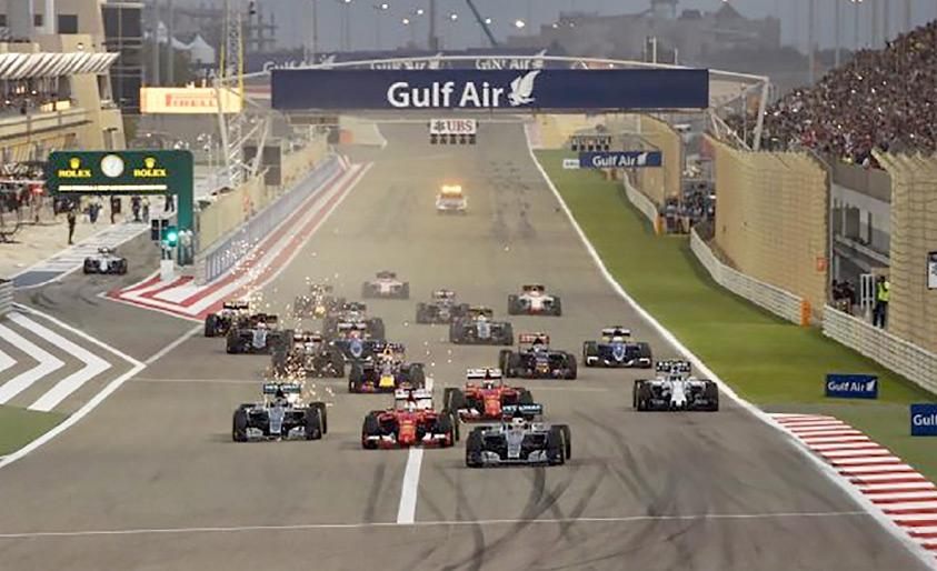 من سباق جائزة البحرين للفورمولا 1 العام الماضي