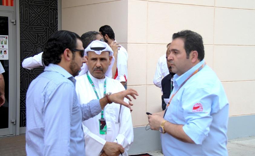 ناصر القصير يتحدث للإعلاميين