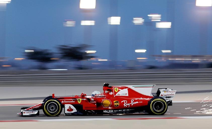 فيتل يهيمن على تجارب اليوم الأول في البحرين